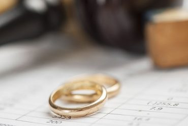 two weddings rings symbolizing divorce